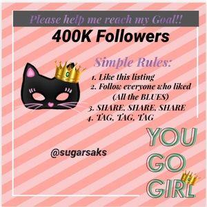 NEW GOAL ➡️ 400,000 FOLLOWERS 🎉💃🏽🎉💃🏽